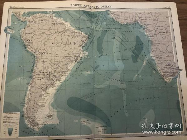 1922年 南大西洋地图