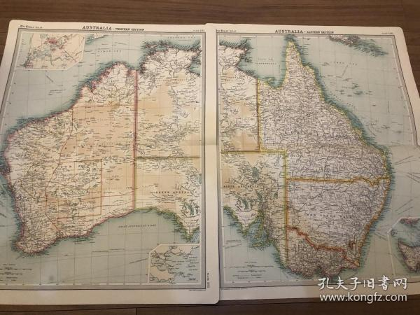 1922年 澳大利亚地图两张