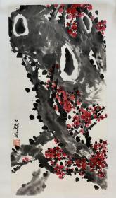 中国现代版画开拓者、奠基人之一,中国美术家协会常务理事、中国版画家协会名誉主席、山西省文联名誉主席、山西省美术家协会名誉主席力群精品花鸟画(保真)