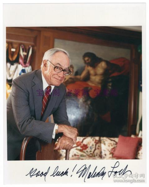"""""""福布斯榜""""创造者 著名企业家 西方手迹收藏家 马尔科姆·福布斯 Malcolm Forbes 亲笔签名照"""
