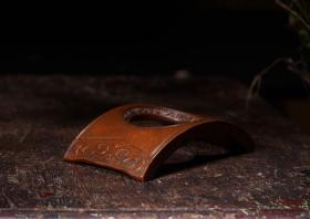 日本回流纯铜制紫铜 茶杯垫 茶道具 工艺精湛,皮壳味道一流,包浆醇厚,案上雅玩!!9.5x5.2x2cm高度!!
