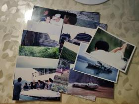 彩色照片:三峡水电站沿线的风景彩色照片    共14张合售       彩色照片箱0067--3