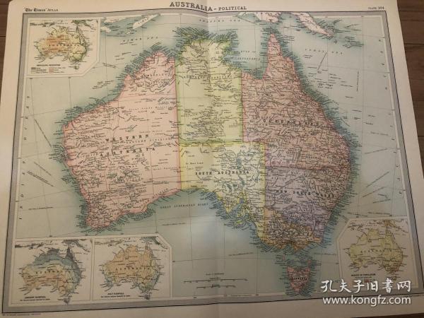 1922年 澳大利亚地图