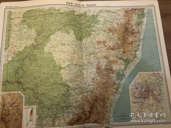 新南威尔士地图