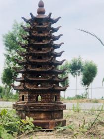 民国时期花梨木老木塔。镇宅包平安
