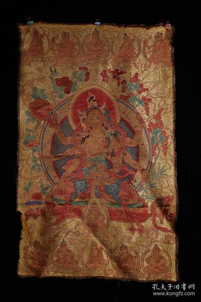 藏传 百年老刺绣唐卡——度母
