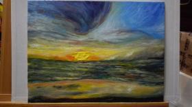 风景~海边日出