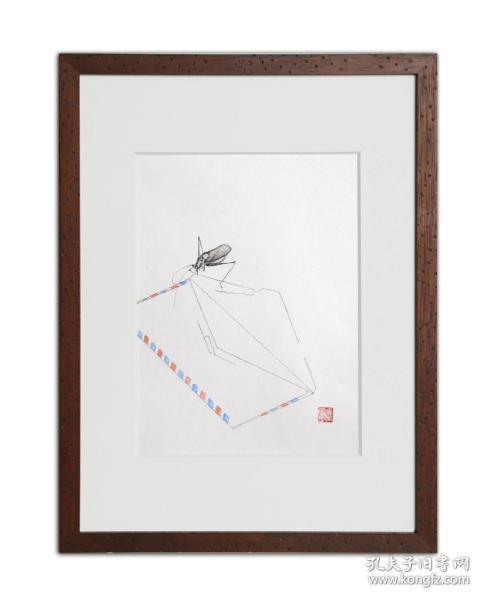饾版水印版画 文心雕虫系列之一