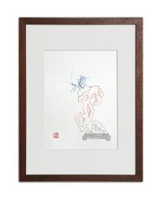 饾版水印版画 文心雕虫系列之六