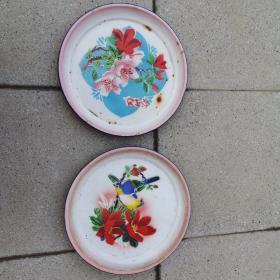 搪瓷盘两个