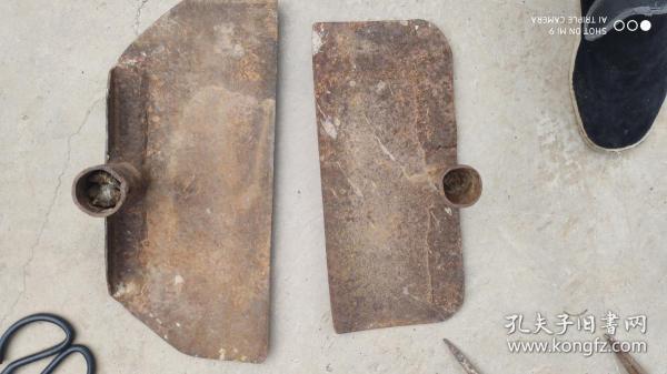 农具工具;铁质刨子2个{刨板子晾晒粮食抢收用}