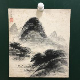 日本回流字画 496方型色纸 卡纸小画片