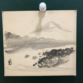 日本回流字画 509方型色纸 卡纸小画片