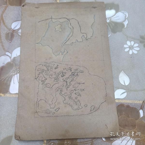手绘民国老地图 成品共计七幅 具体见图 包邮不还价