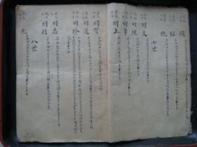 清代山东莱阳县现子湾《某氏族谱》手稿本,孤本