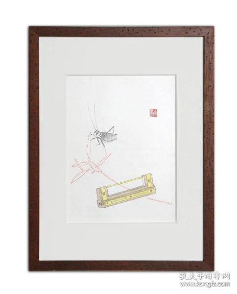 饾版水印版画 文心雕虫系列之二
