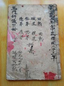 《巫门科仪》佛教手抄本道教手抄本符咒秘旨堪舆风水地理手抄本科仪唱本工尺谱。