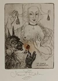 捷克 玛丽安里希特(Marina Richter)版画藏书票原作6 精品收藏