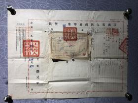 少见1953年南昌市房契证(邵式平签发)