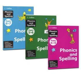 英国原版进口Phonics and Spelling自然拼读写幼儿童英语练习教材