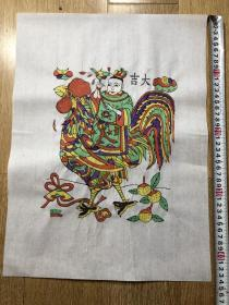 木板年画  大吉  门神(43×34)cm