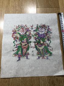 木板年画  门神(22×31)cm
