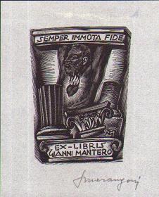 意大利木口木刻三大师之一马兰格尼藏书票原作13
