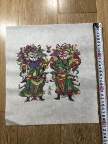 木板年画  门神(27×31)cm
