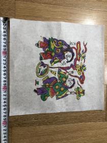 木板年画  门神(28×30)cm