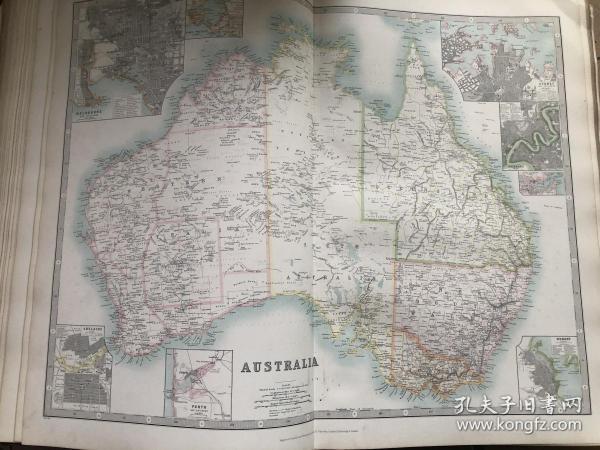 1910年 澳大利亚地图