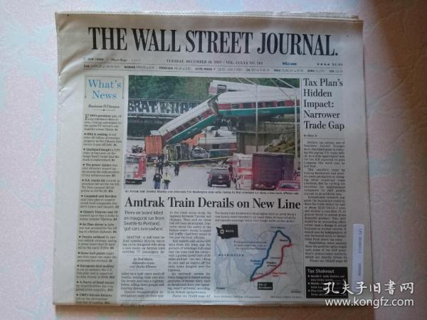 THE WALL STREET JOURNAL 华尔街日报 2017/12/19  外文原版报纸