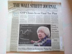 THE WALL STREET JOURNAL 华尔街日报 2017/12/14  外文原版报纸