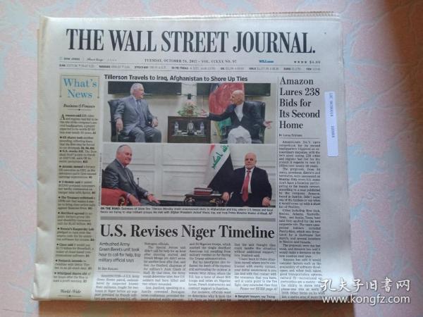 THE WALL STREET JOURNAL 华尔街日报 2017/10/24  外文原版报纸