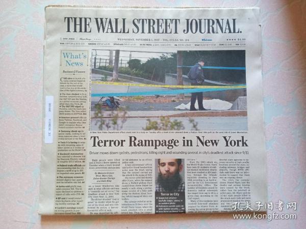 THE WALL STREET JOURNAL 华尔街日报 2017/11/01   外文原版报纸
