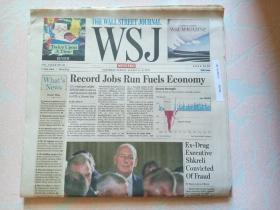 THE WALL STREET JOURNAL 华尔街日报周末版 WSJ 2017/08/5-6  外文原版报纸