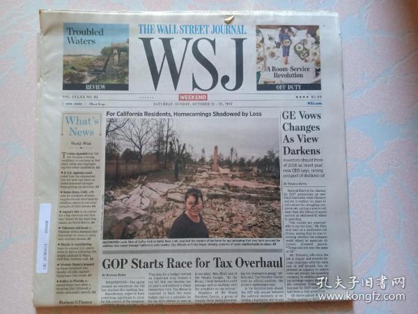 THE WALL STREET JOURNAL 华尔街日报周末版 WSJ 2017/10/21-22  外文原版报纸