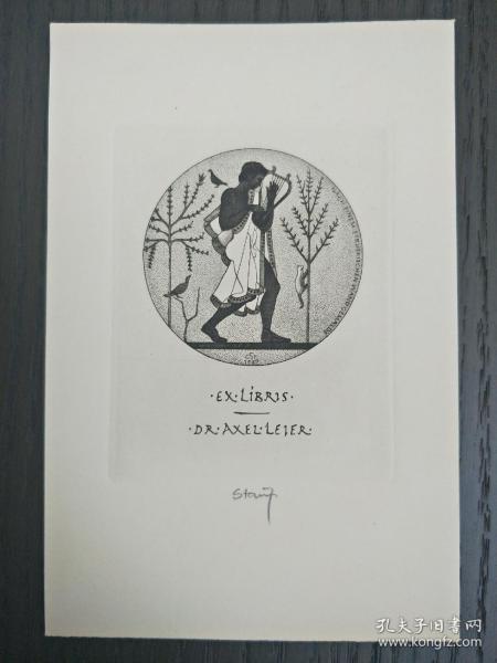 德国石版画   藏书票