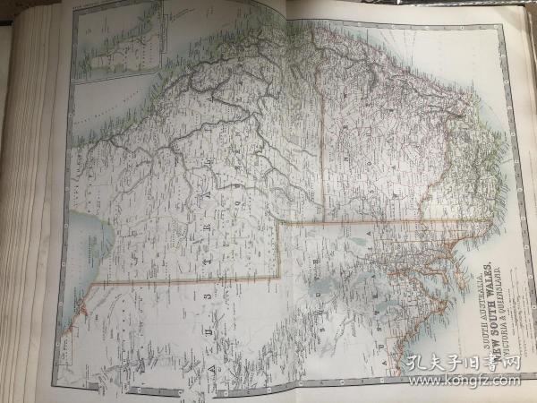 1908年 新南威尔士,昆士兰,维克托利亚州地图