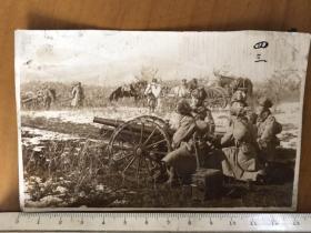 民国抗战时期日军牡丹江老黑山总攻击步兵炮老照片