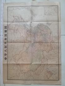 中国地图,对开