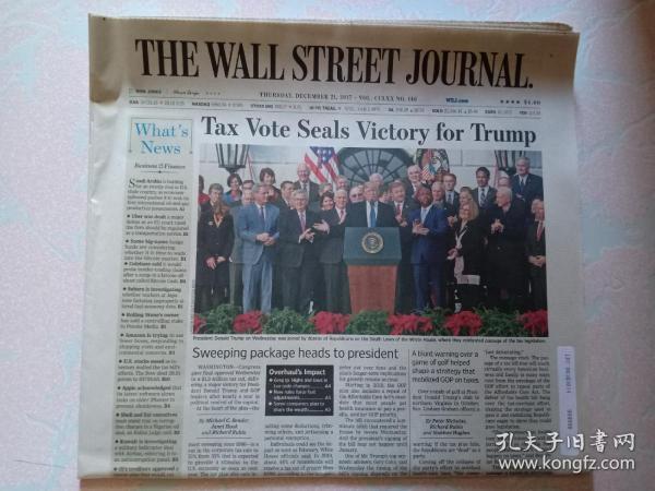 THE WALL STREET JOURNAL 华尔街日报 2017/12/21  外文原版报纸