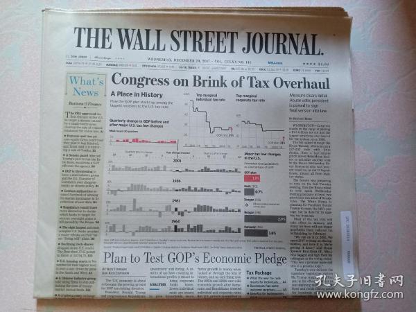 THE WALL STREET JOURNAL 华尔街日报 2017/12/20  外文原版报纸