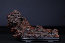竹雕摆件。 尺寸约25×10×14.8