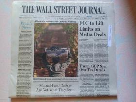 THE WALL STREET JOURNAL 华尔街日报 2017/10/26  外文原版报纸