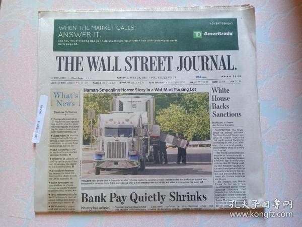 THE WALL STREET JOURNAL 华尔街日报 2017/07/24   外文原版报纸