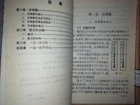 初中数学课本代数 几何全套6本 未使用