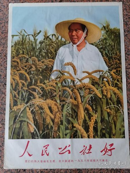 中三1-20、人民公社好(毛泽东手书),上海人民美术出版社1969.8,1版1印,规格1开,95品