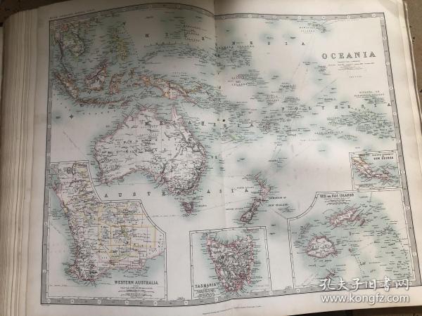 1908年 澳洲地图
