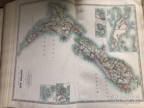 1908年 新西兰地图
