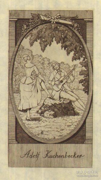 德国艺术大师 Martin E. PHILIPP版画藏书票原作10